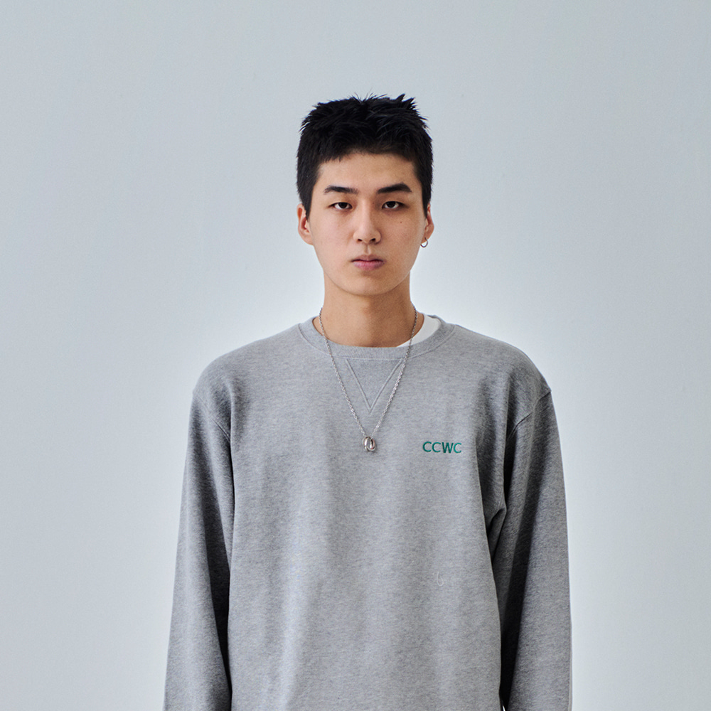 CCWC LOGO STITCH SWEAT SHIRTS GREY